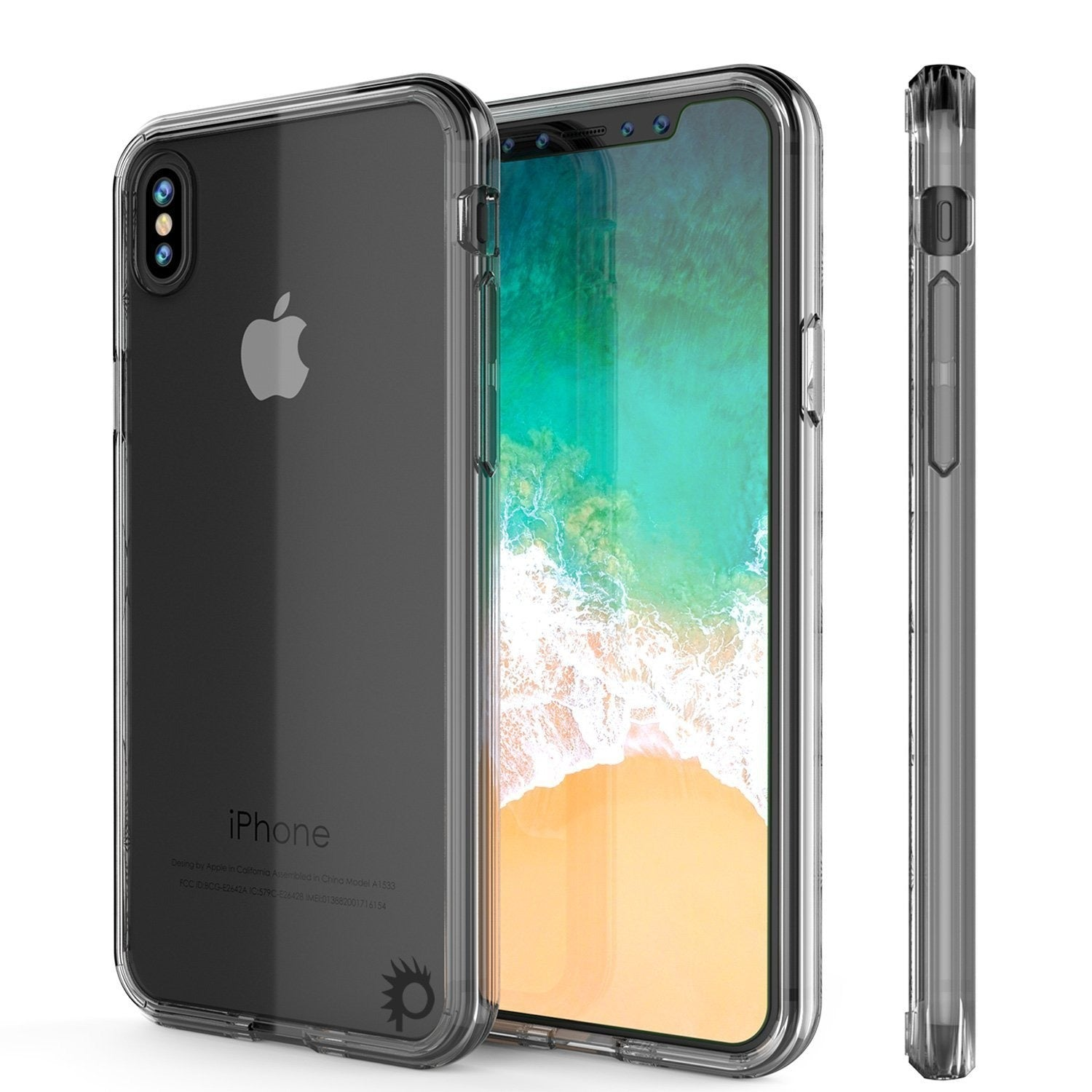 iPhone XS Max Case, PUNKcase [Lucid 2.0 Series] [Slim Fit] Armor Cover [Clear]
