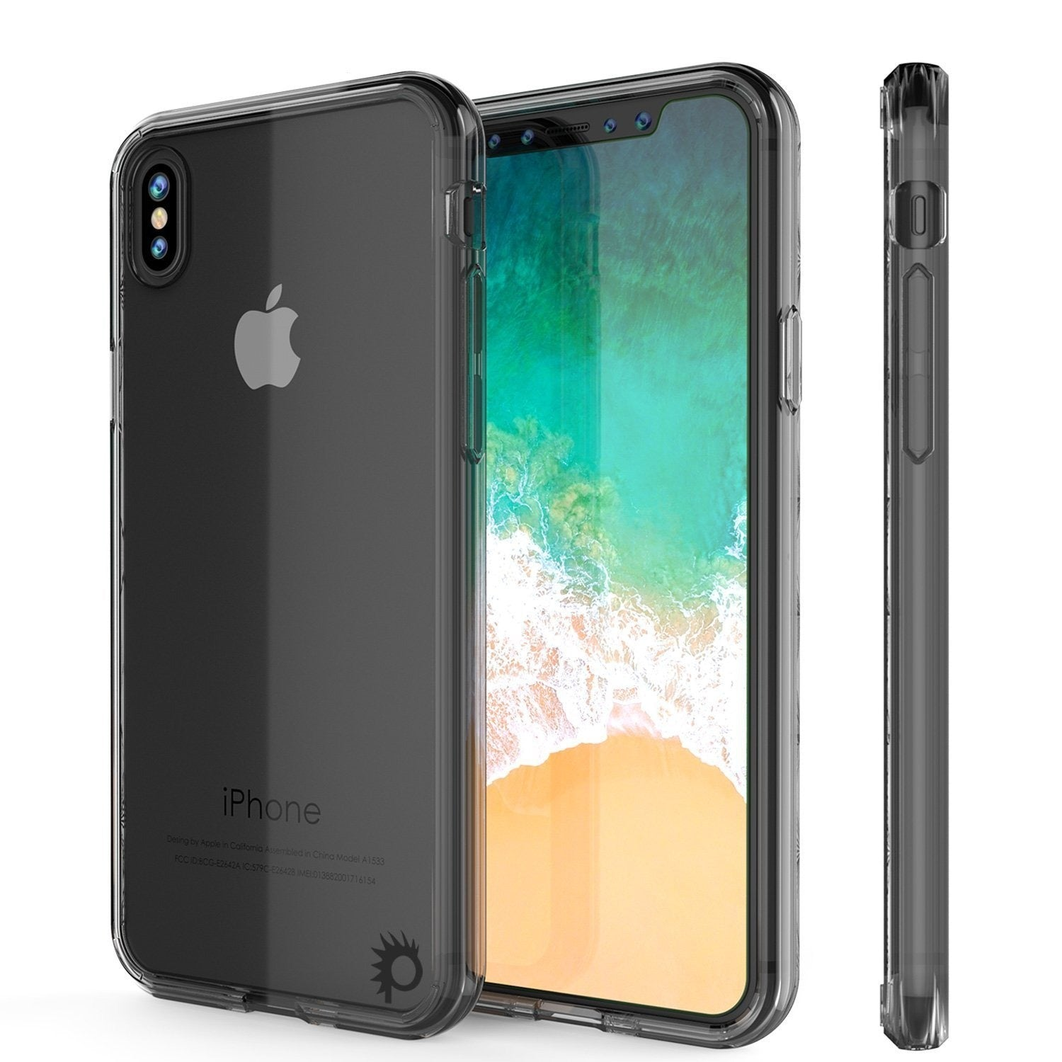 iPhone XS Max Case, PUNKcase [Lucid 2.0 Series] [Slim Fit] Armor Cover [Crystal-Black]