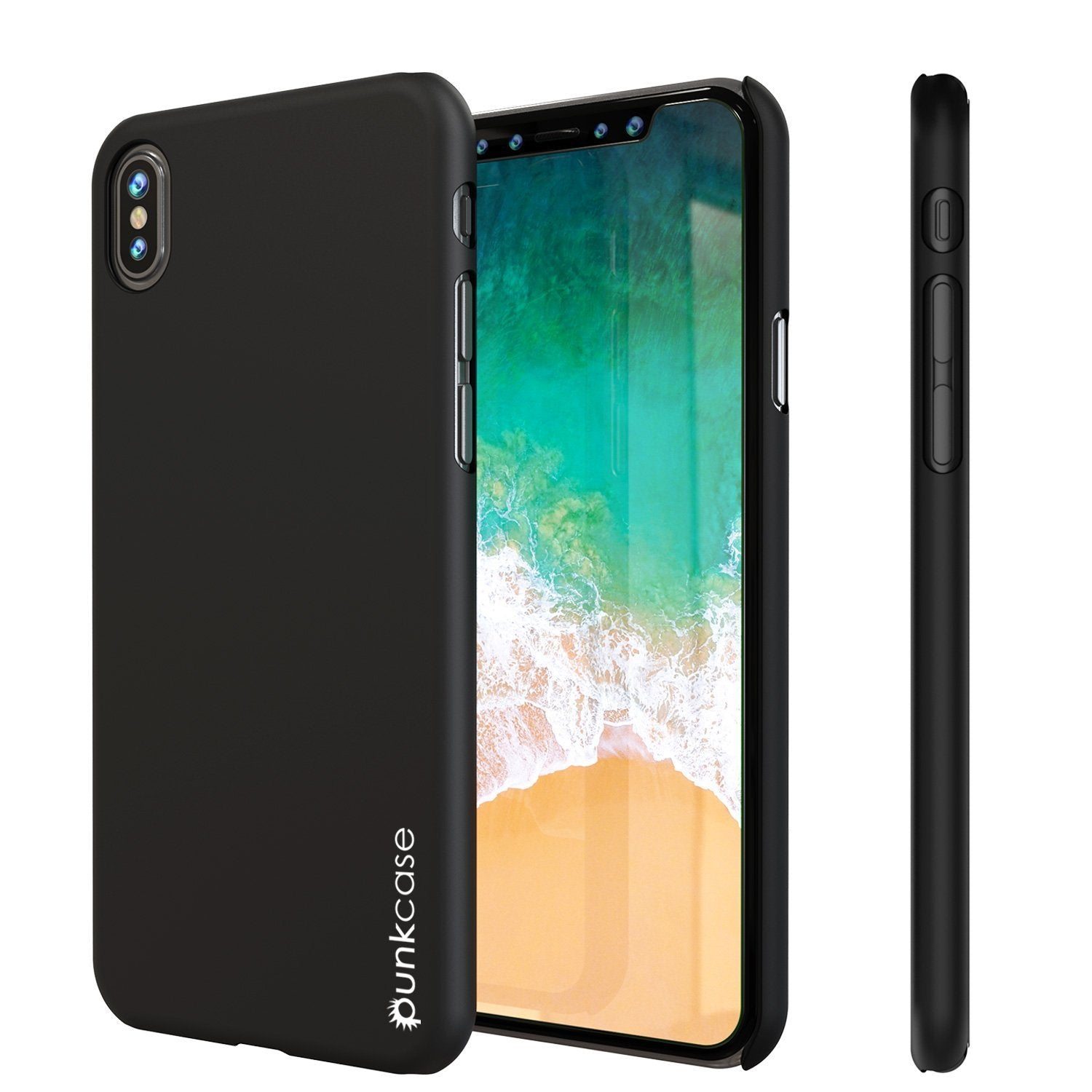 iPhone X Case, Punkcase [Solid Series] Ultra Thin Cover [shockproof] [dirtproof] for Apple iPhone 10 [Black]