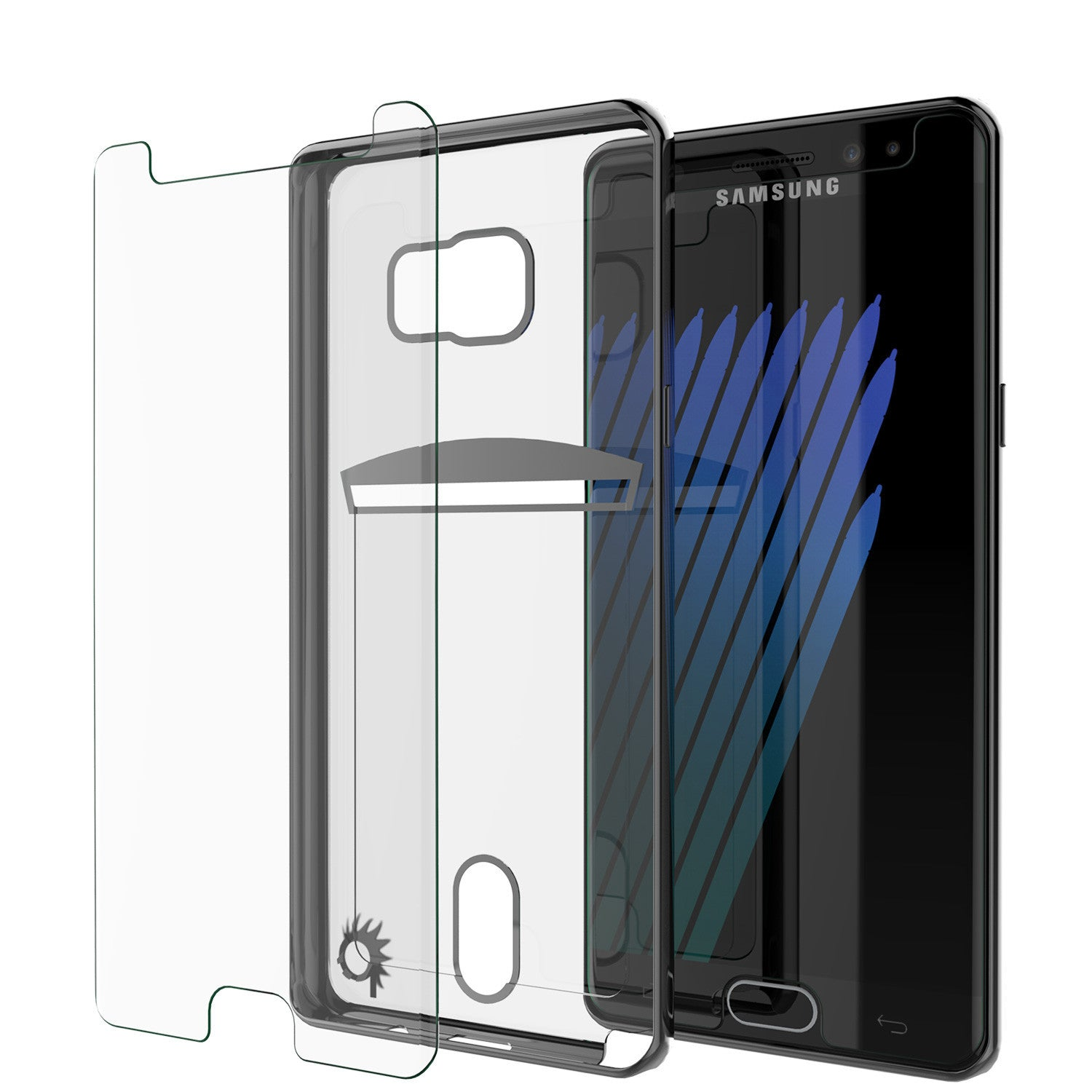 Galaxy Note 7 Case, PUNKCASE® LUCID Black Series | Card Slot | SHIELD Screen Protector | Ultra fit