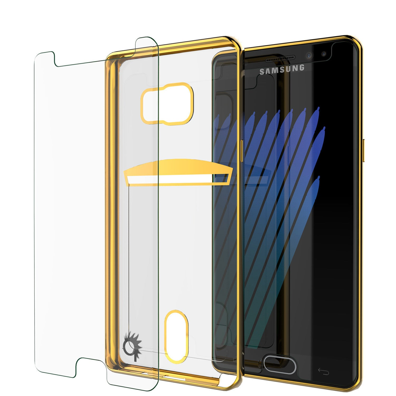 Galaxy Note 7 Case, PUNKCASE® LUCID Gold Series | Card Slot | SHIELD Screen Protector | Ultra fit