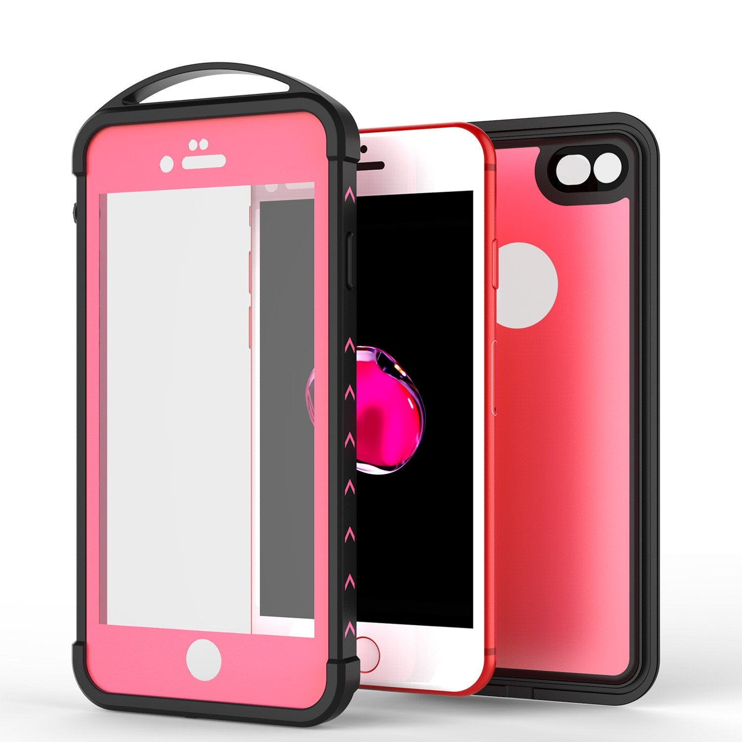 iPhone 7 Waterproof Case, Punkcase ALPINE Series, Pink | Heavy Duty Armor Cover