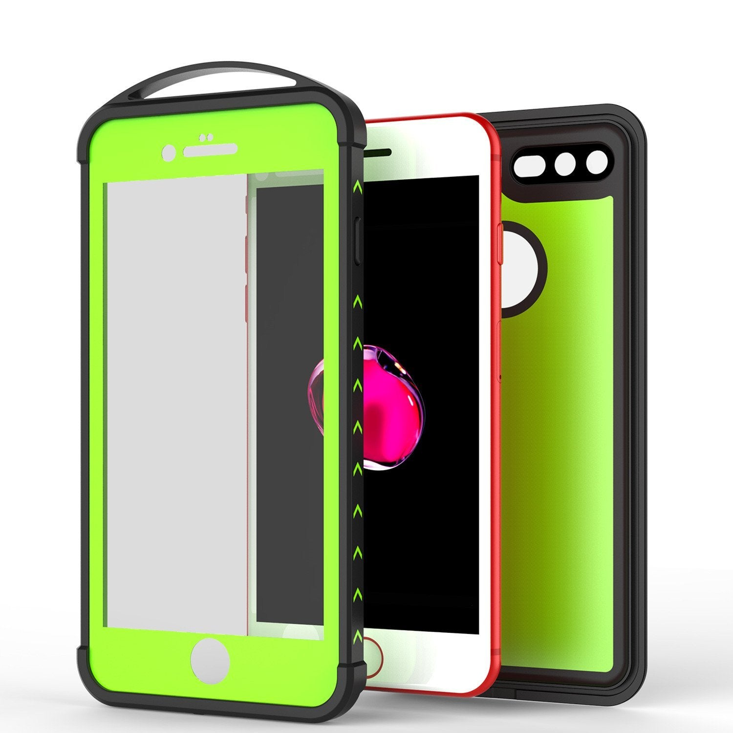 iPhone 8+ Plus Waterproof Case, Punkcase ALPINE Series, Light Green | Heavy Duty Armor Cover