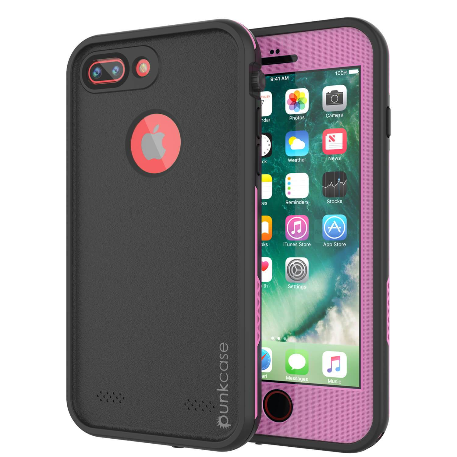 iPhone 7+ Plus Waterproof Case, Punkcase SpikeStar Pink Series | Thin Fit 6.6ft Underwater IP68