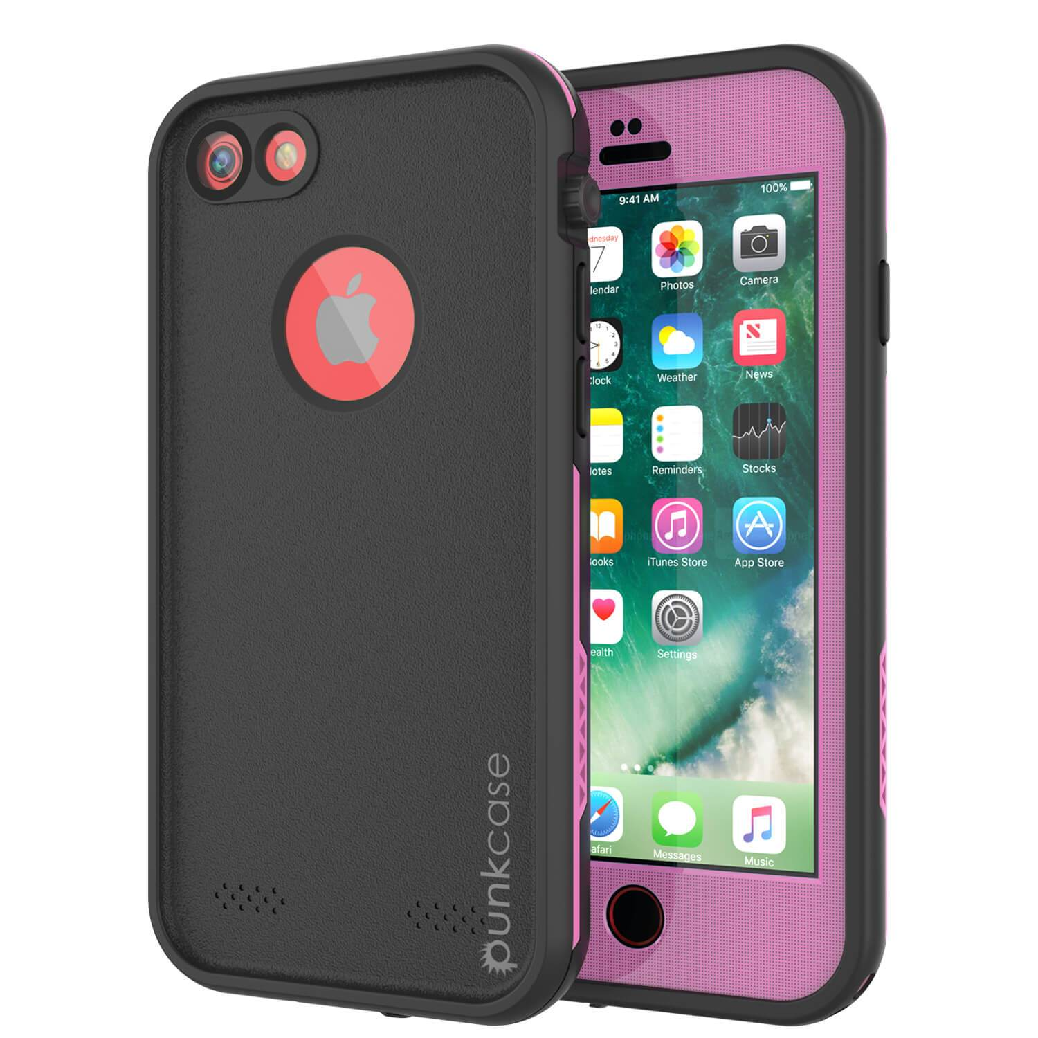 iPhone 8 Waterproof Case, Punkcase SpikeStar Pink Series | Thin Fit 6.6ft Underwater IP68
