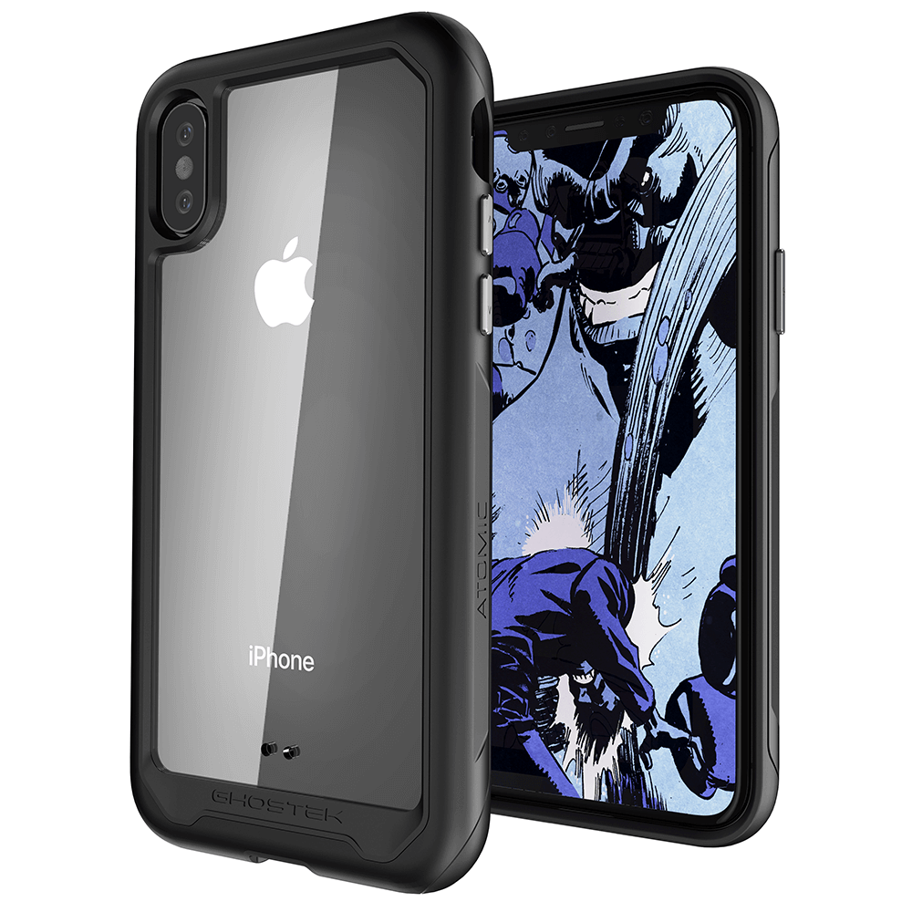 iPhone Xs Max Case, Ghostek Atomic Slim 2 Series  for iPhone Xs Max Rugged Heavy Duty Case|BLACK