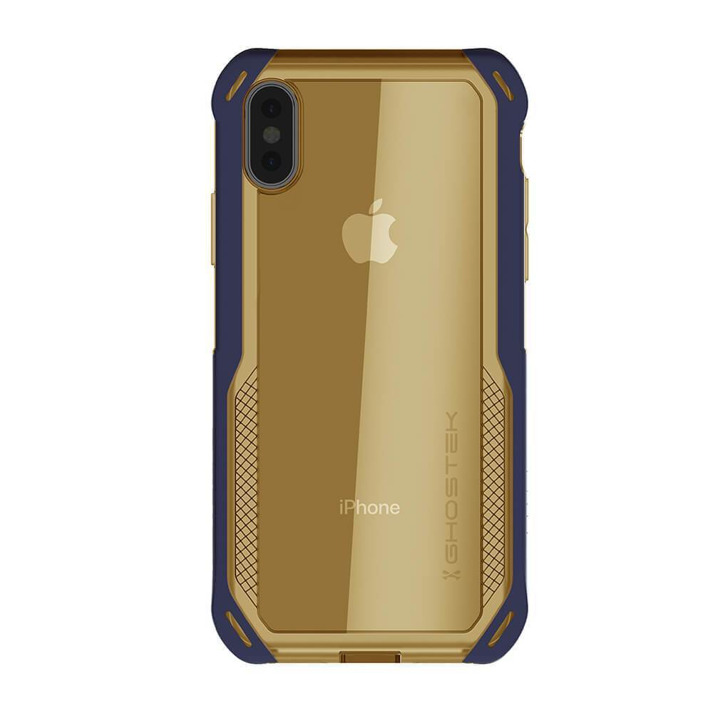 iPhone Xs Max Case, Ghostek Cloak 4 Series  for iPhone Xs Max / iPhone Pro Case | BLUE-GOLD