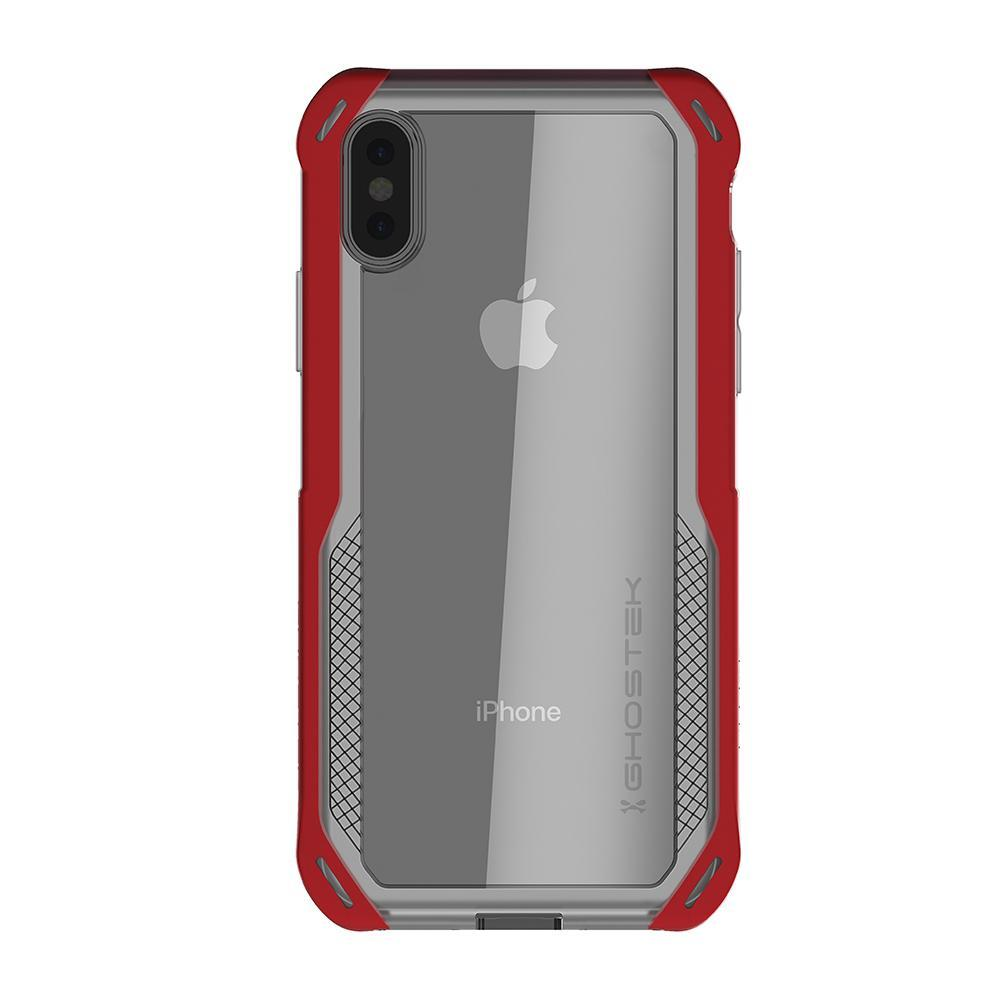 iPhone Xs Max Case, Ghostek Cloak 4 Series  for iPhone Xs Max / iPhone Pro Case | RED-CLEAR