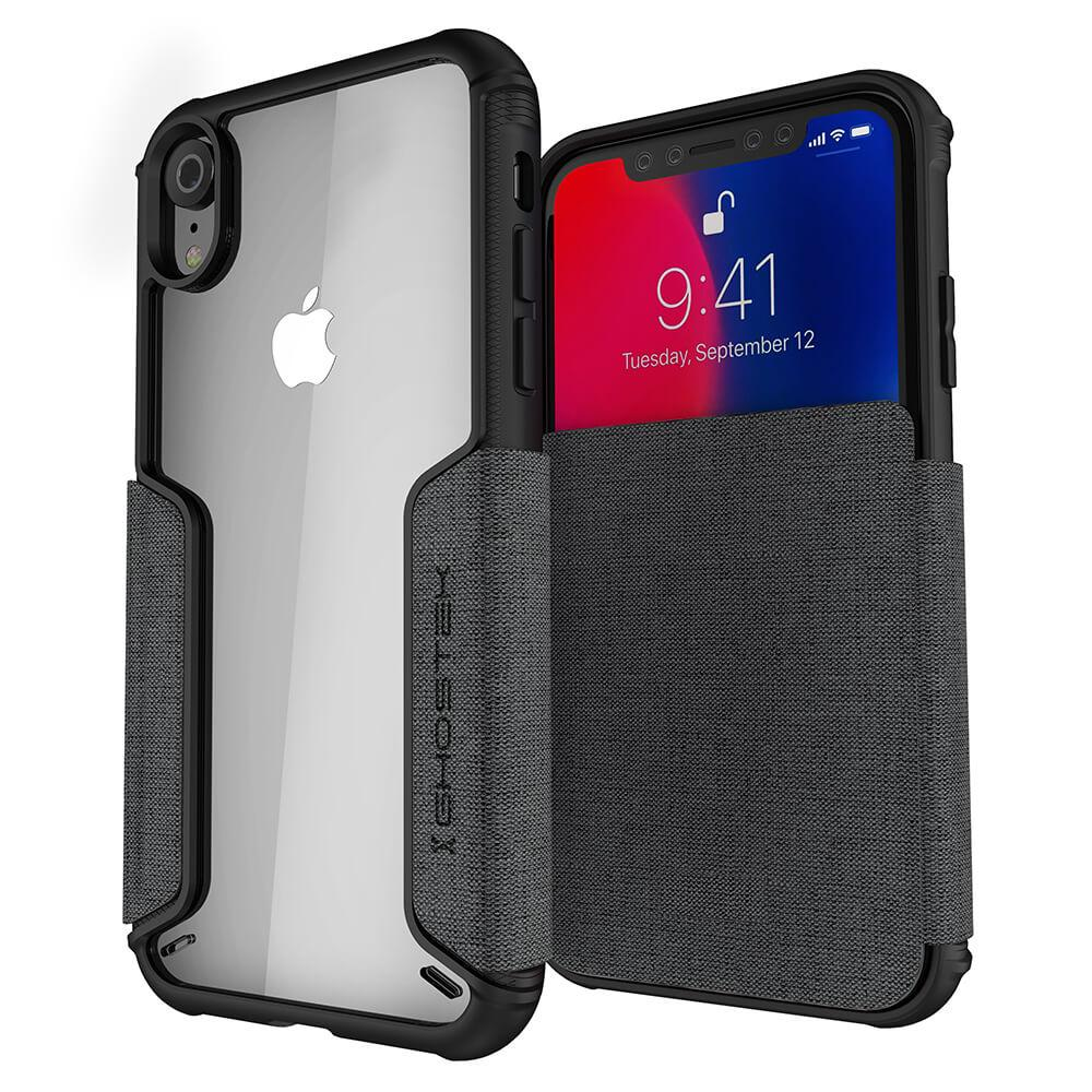 iPhone Xr Case, Ghostek Exec 3 Series for iPhone Xr / iPhone Pro Protective Wallet Case [GRAY]