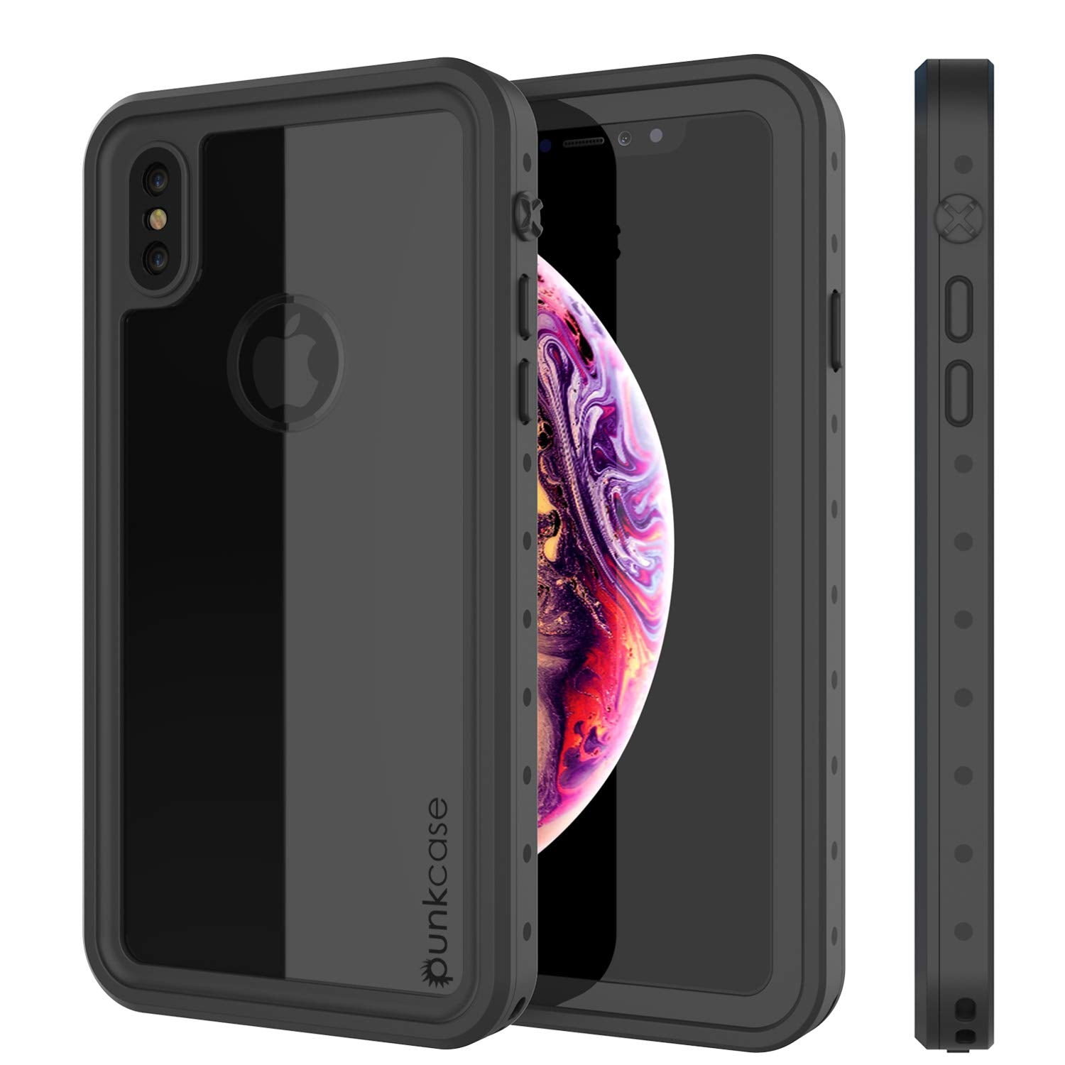 iPhone XS Max Waterproof IP68 Case, Punkcase [Clear] [StudStar Series] [Slim Fit] [Dirtproof]