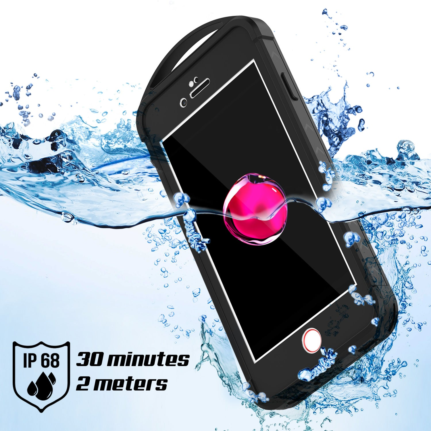 iPhone 7+ Plus Waterproof Case, Punkcase ALPINE Series, CLEAR | Heavy Duty Armor Cover