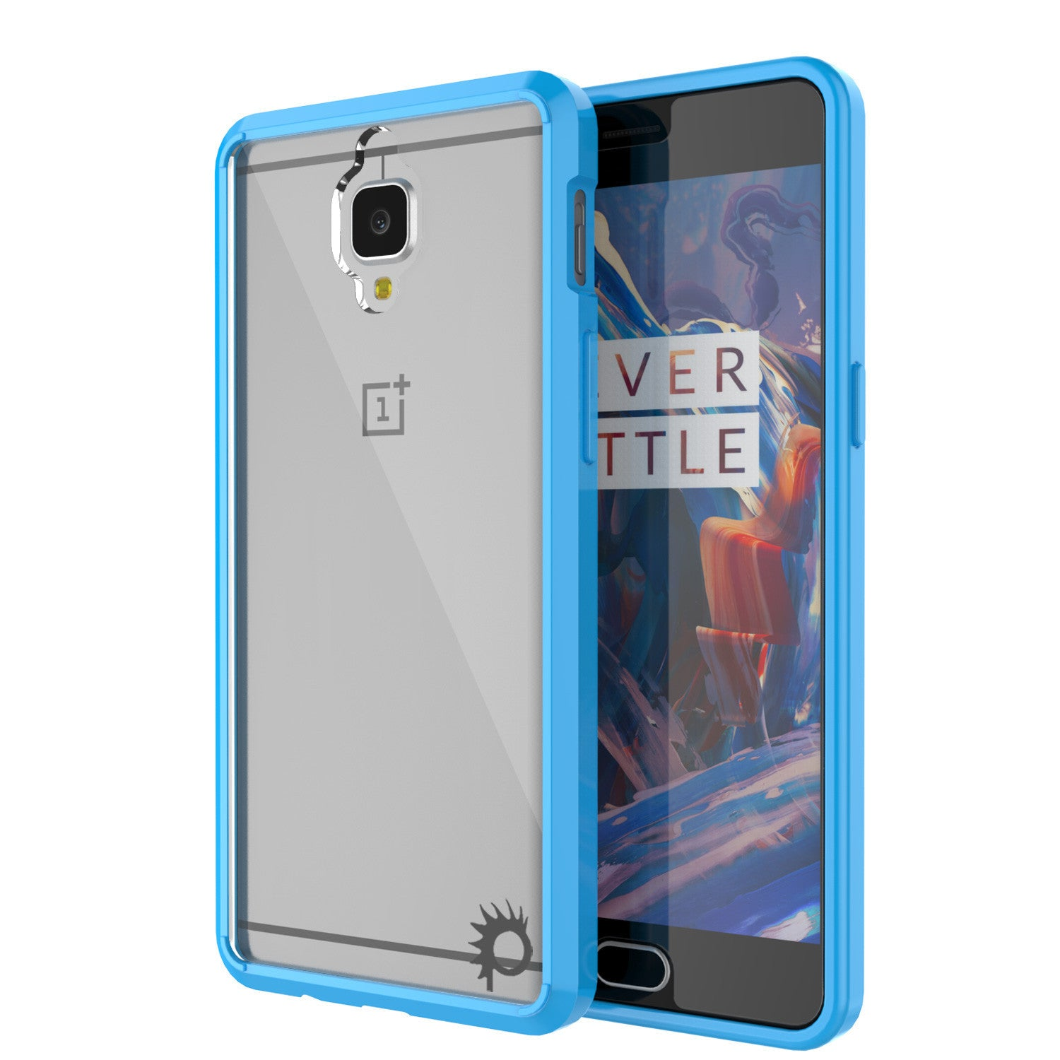 OnePlus 3 Case Punkcase® LUCID 2.0 Light Blue Series w/ SHIELD GLASS Lifetime Warranty Exchange