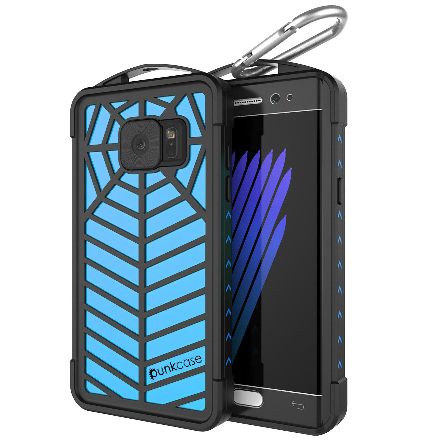 Galaxy Note 7 Waterproof Case, Punkcase WEBSTER Series, Light Blue | Heavy Duty Armor Cover