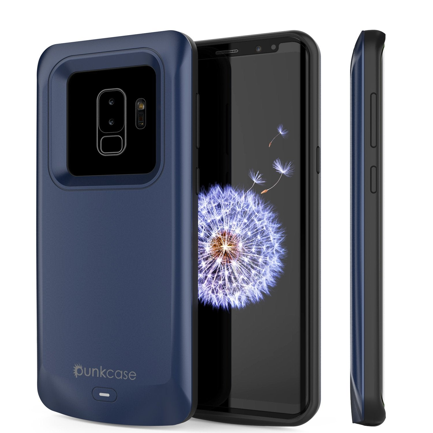 Galaxy S9 PLUS Battery Case, PunkJuice 5000mAH Fast Charging Power Bank W/ Screen Protector | Integrated USB Port | IntelSwitch | Slim, Secure and Reliable | Suitable for Samsung Galaxy S9+ [Navy]
