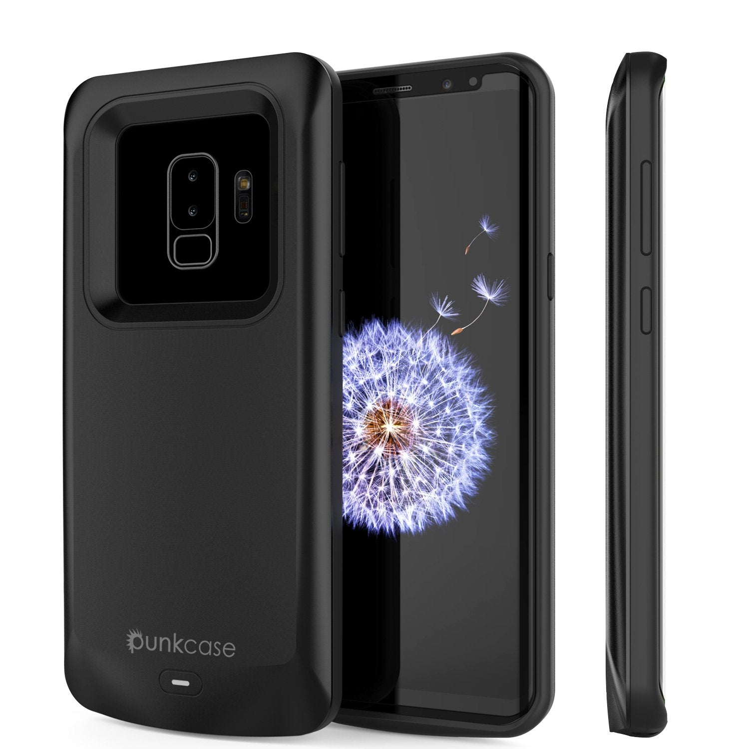 Galaxy S9 PLUS Battery Case, PunkJuice 5000mAH Fast Charging Power Bank W/ Screen Protector | Integrated USB Port | IntelSwitch | Slim, Secure and Reliable | Suitable for Samsung Galaxy S9+ [Black]