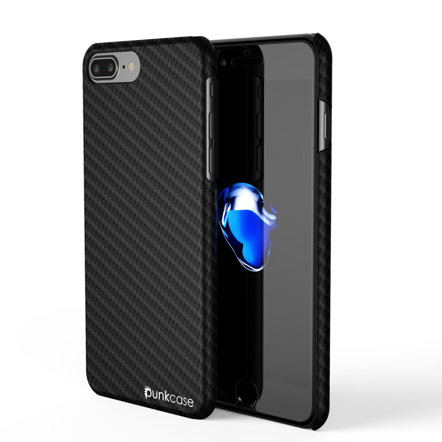 iPhone 7 Plus Case - Punkcase CarbonShield Jet Black