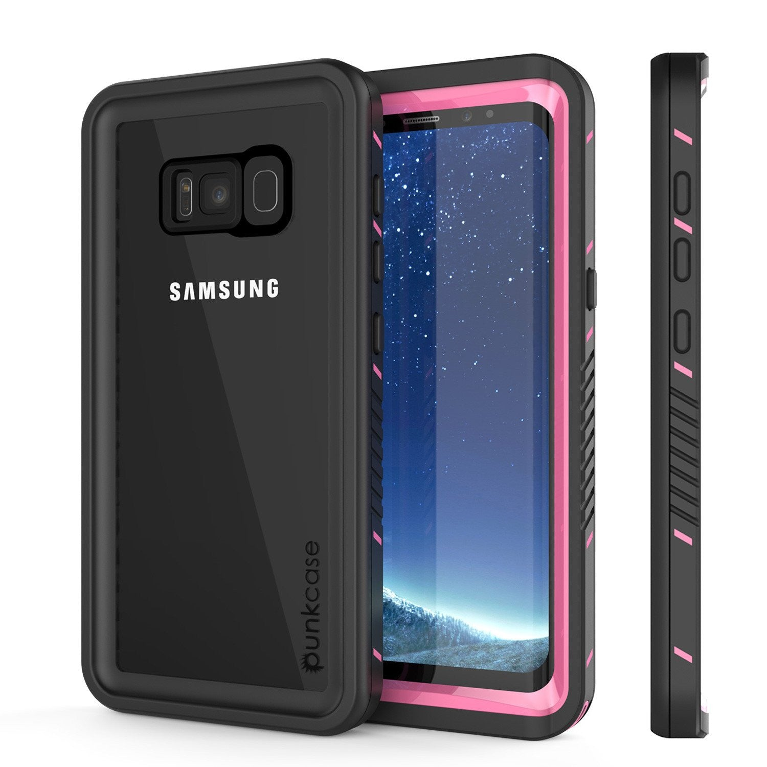 Galaxy S8 PLUS Waterproof Case, Punkcase [Extreme Series] [Slim Fit] [IP68 Certified] [Shockproof] [Snowproof] [Dirproof] Armor Cover W/ Built In Screen Protector for Samsung Galaxy S8+ [Pink]