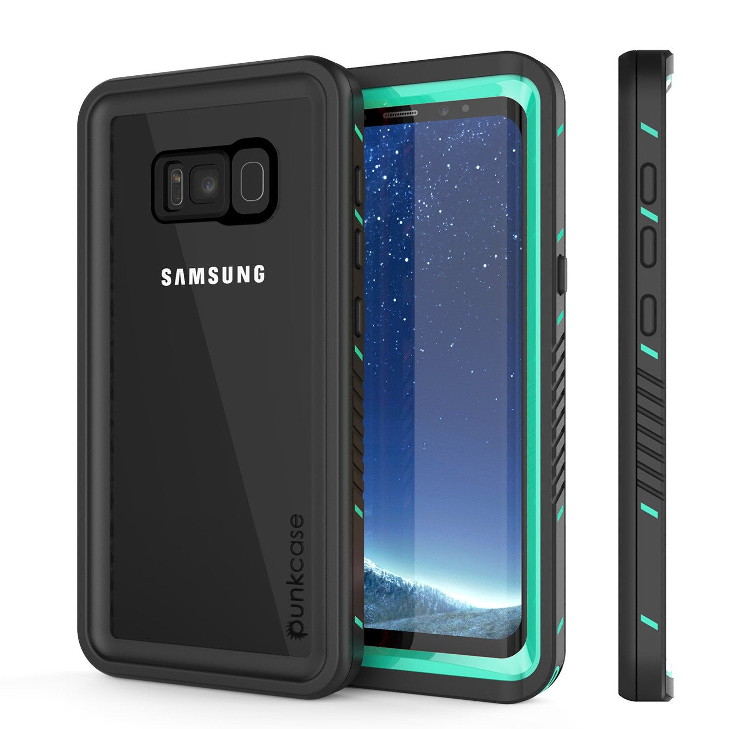 Galaxy S8 PLUS Waterproof Case, Punkcase [Extreme Series] [Slim Fit] [IP68 Certified] [Shockproof] [Snowproof] [Dirproof] Armor Cover W/ Built In Screen Protector for Samsung Galaxy S8+ [Teal]
