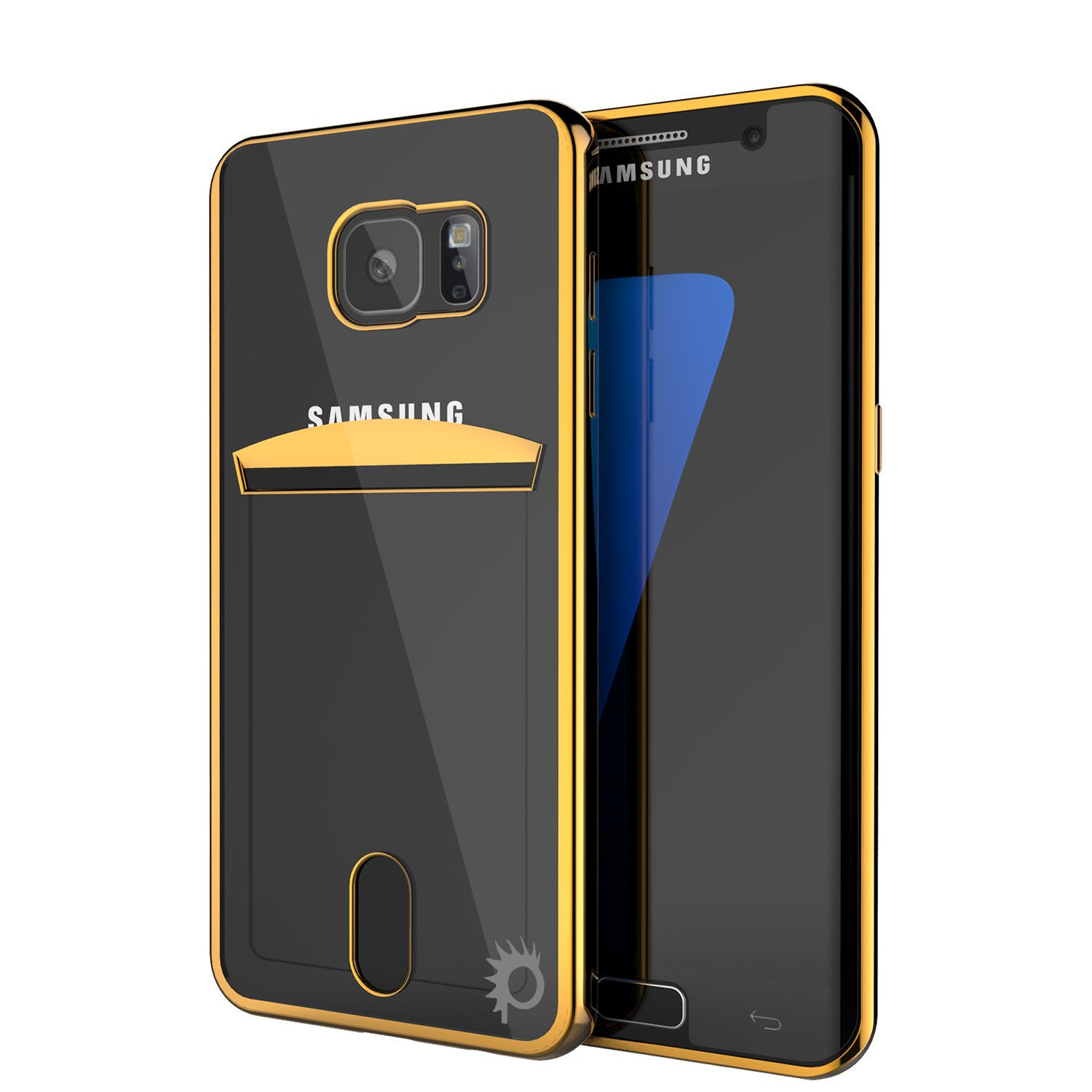 Galaxy S7 EDGE Case, PUNKCASE® LUCID Gold Series | Card Slot | SHIELD Screen Protector | Ultra fit