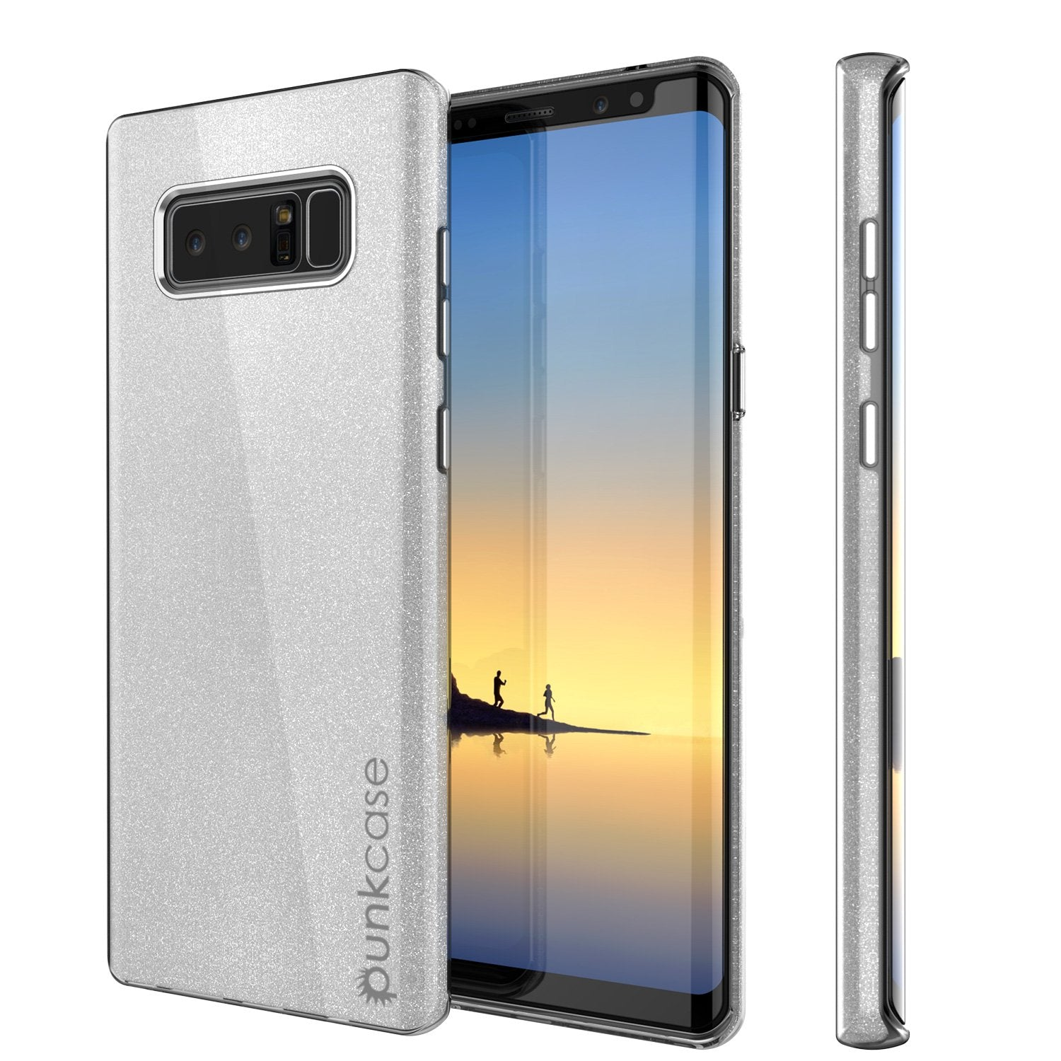 Galaxy Note 8 Case, Punkcase Galactic 2.0 Series Ultra Slim Protective Armor [Silver]