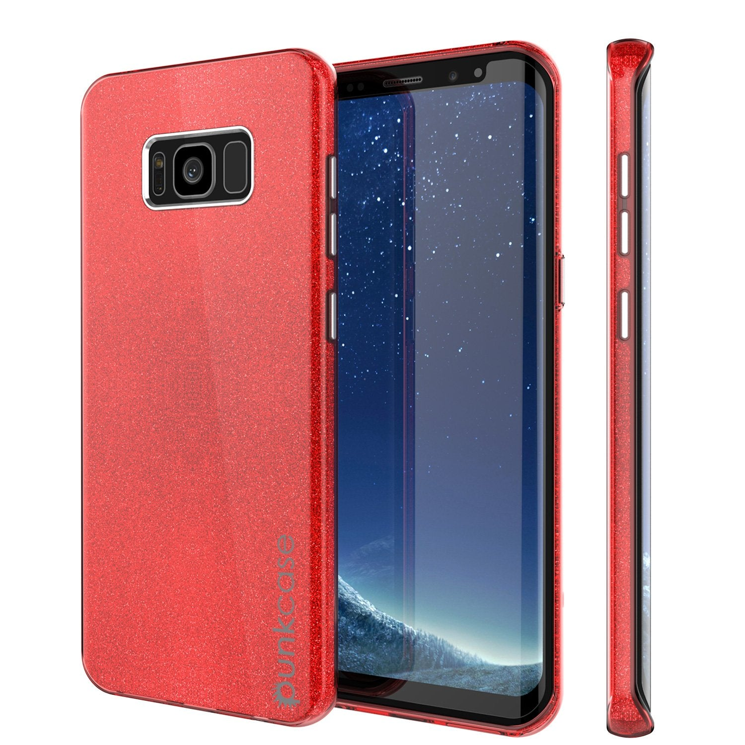 Galaxy S8 Plus Case, Punkcase Galactic 2.0 Series Ultra Slim Protective Armor TPU Cover [Red]