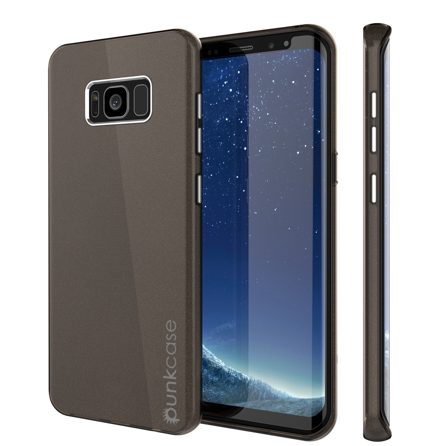 Galaxy S8 Case, Punkcase Galactic 2.0 Series Ultra Slim Protective Armor TPU Cover w/ PunkShield Screen Protector | Lifetime Exchange Warranty | Designed for Samsung Galaxy S8 [Black/grey]