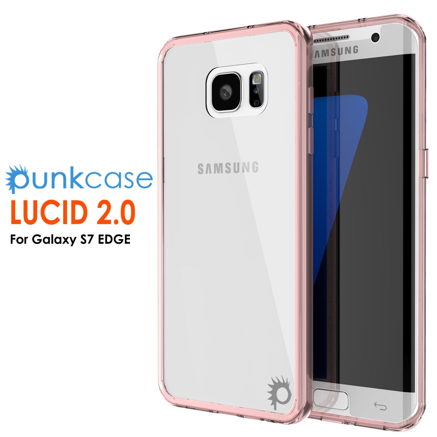 S7 Edge Case Punkcase® LUCID 2.0 Crystal Pink Series w/ PUNK SHIELD Screen Protector | Ultra Fit