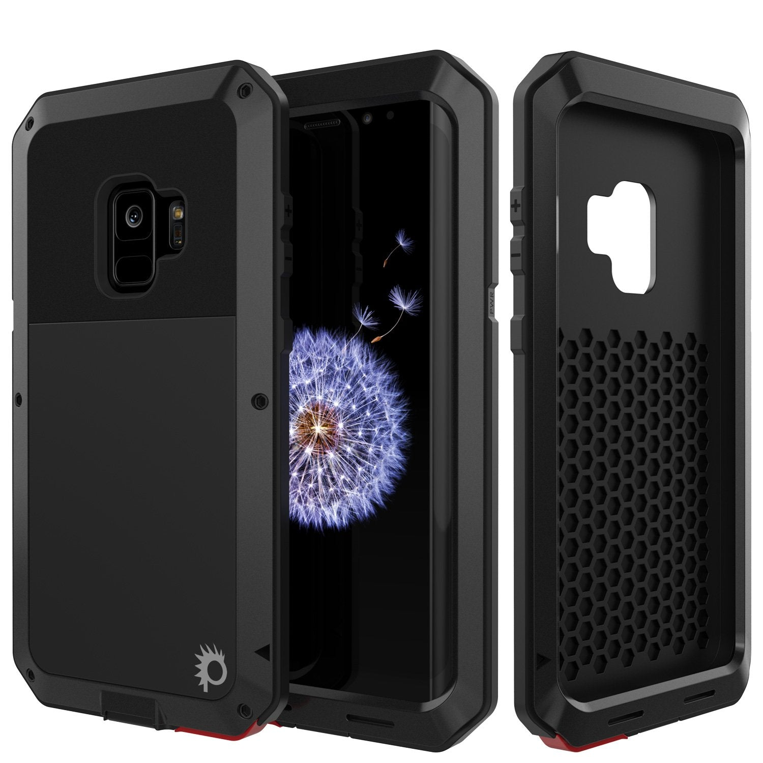 Galaxy S9 Metal Case, Heavy Duty Military Grade Rugged Armor Cover [shock proof] Hybrid Full Body Hard Aluminum & TPU Design [non slip] W/ Prime Drop Protection for Samsung Galaxy S9 [Black]