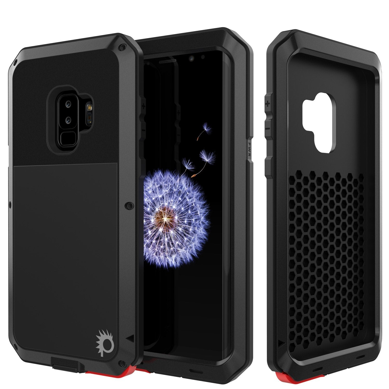 Galaxy S9 Plus Metal Case, Heavy Duty Military Grade Rugged Armor Cover [shock proof] Hybrid Full Body Hard Aluminum & TPU Design [non slip] W/ Prime Drop Protection for Samsung Galaxy S9 Plus [Black]