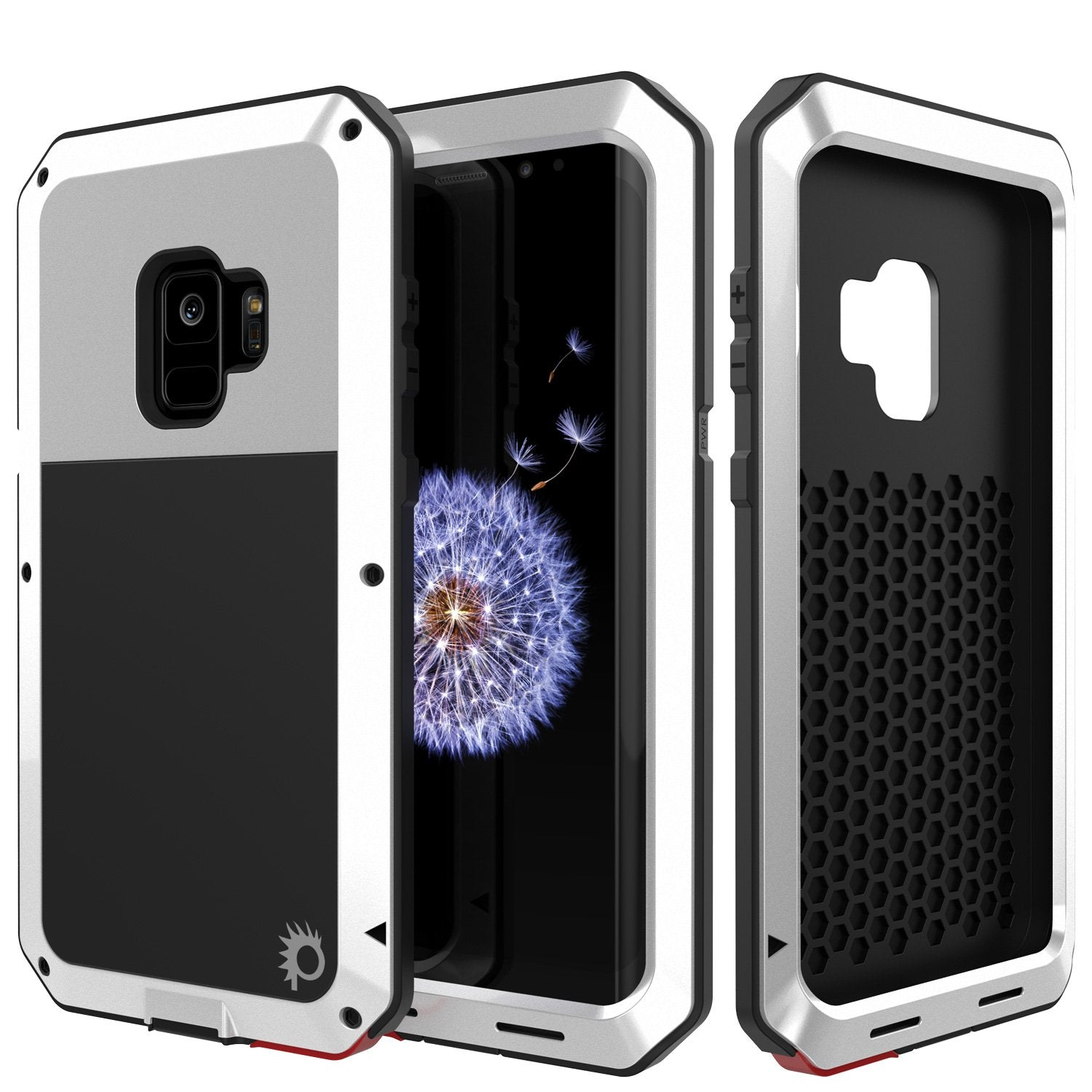 Galaxy S9 Metal Case, Heavy Duty Military Grade Rugged Armor Cover [shock proof] Hybrid Full Body Hard Aluminum & TPU Design [non slip] W/ Prime Drop Protection for Samsung Galaxy S9 [White]