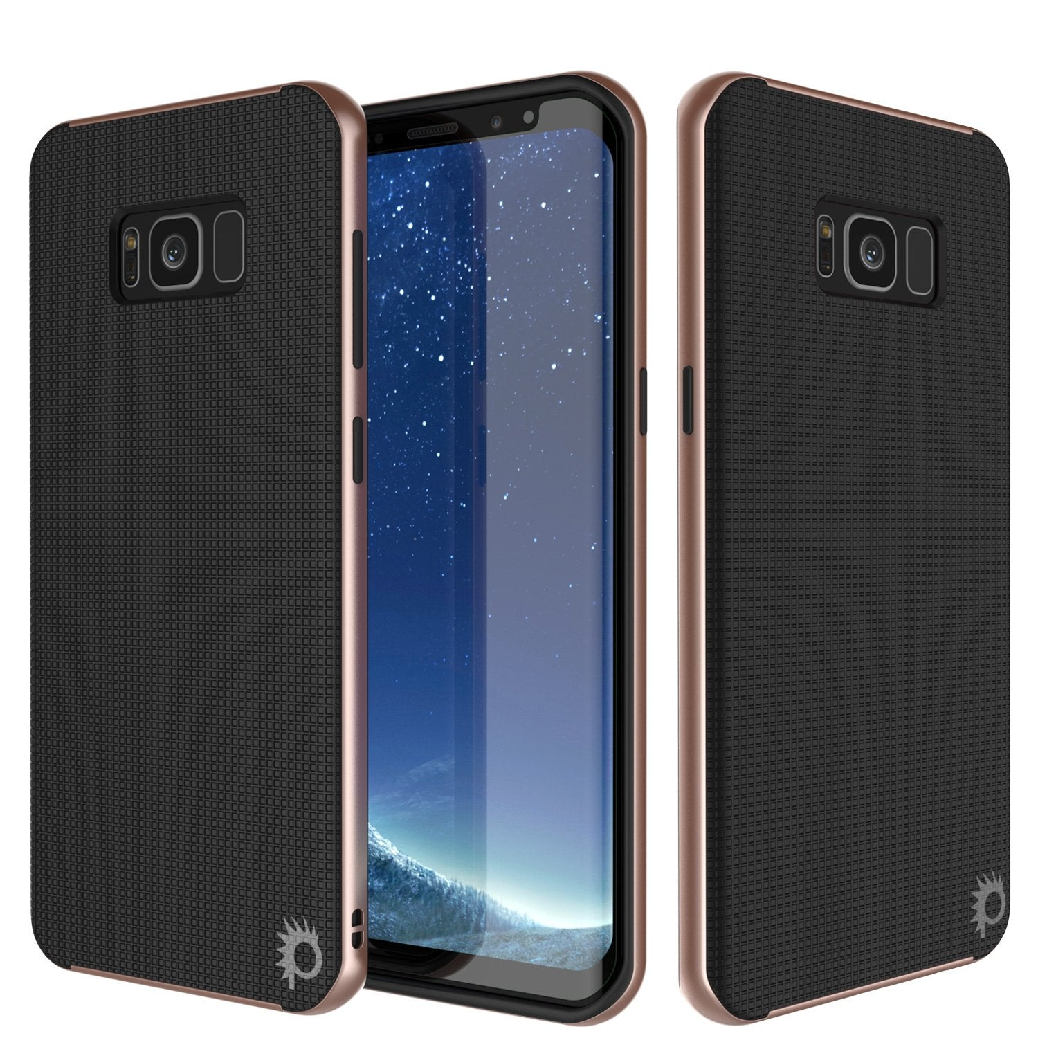 Galaxy S8 Case, PunkCase [Stealth Series] Hybrid 3-Piece Shockproof Dual Layer Cover [Non-Slip] [Soft TPU + PC Bumper] with PUNKSHIELD Screen Protector for Samsung S8 Edge [Rose Gold]