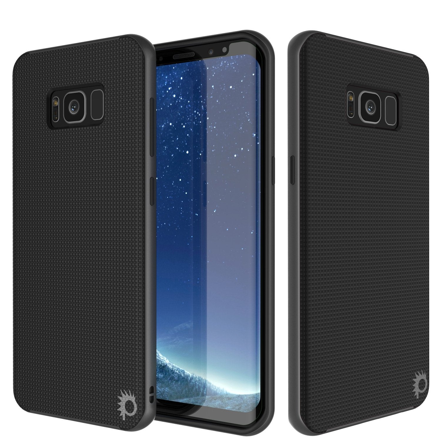 Galaxy S8 Case, PunkCase [Stealth Series] Hybrid 3-Piece Shockproof Dual Layer Cover [Non-Slip] [Soft TPU + PC Bumper] with PUNKSHIELD Screen Protector for Samsung S8 Edge [Grey]