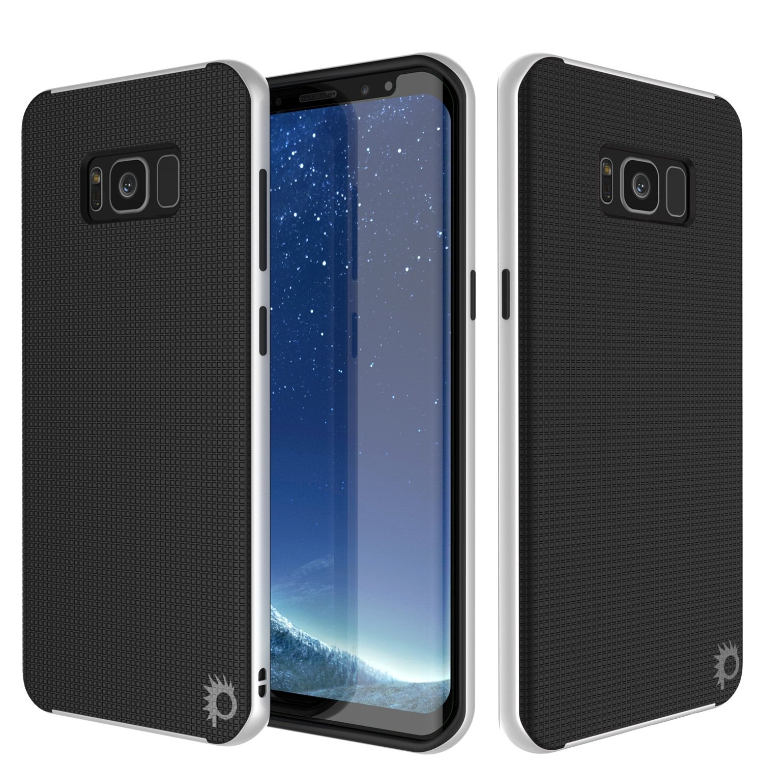 Galaxy S8 Case, PunkCase [Stealth Series] Hybrid 3-Piece Shockproof Dual Layer Cover [Non-Slip] [Soft TPU + PC Bumper] with PUNKSHIELD Screen Protector for Samsung S8 Edge [White]