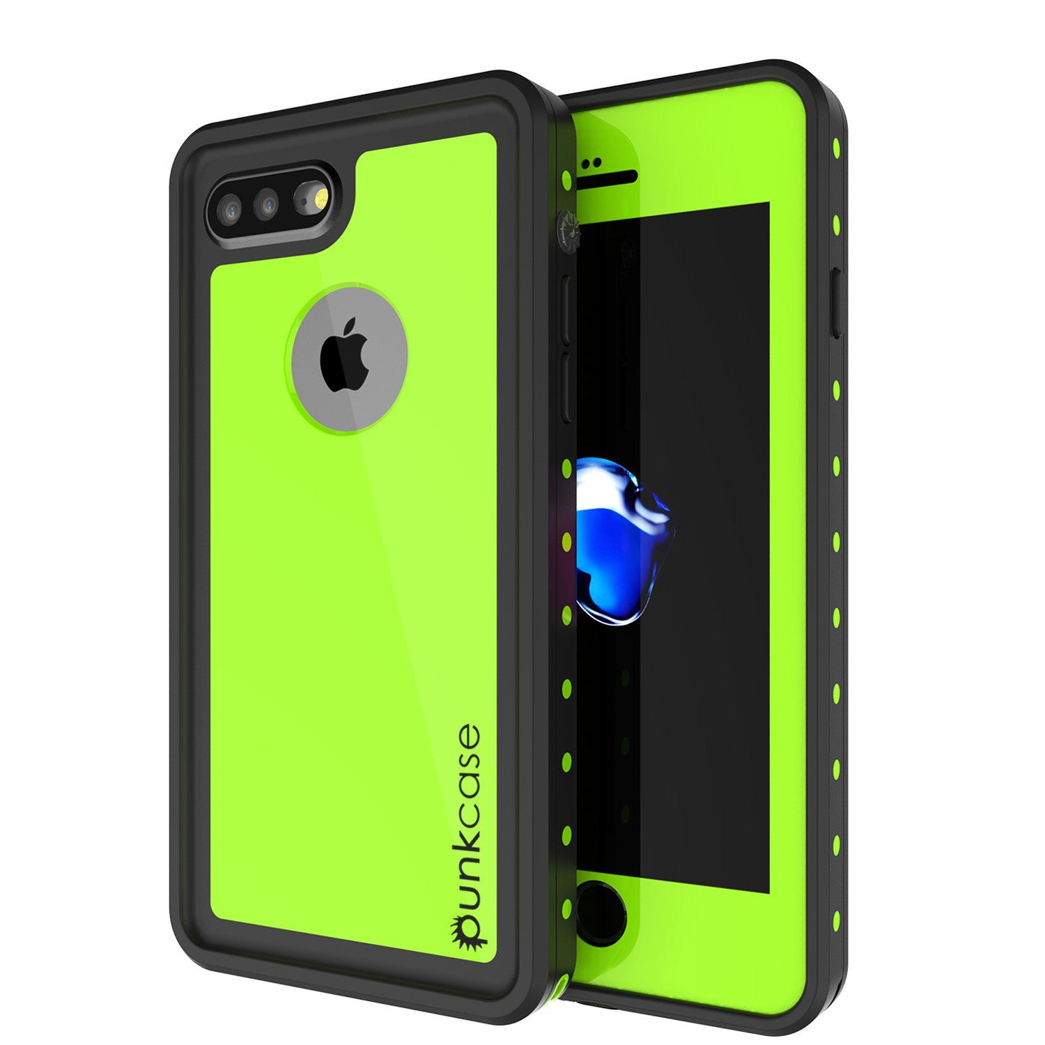 iPhone 8+ Plus Waterproof Case, Punkcase [StudStar Series] [Light Green] [Slim Fit] [Shockproof] [Dirtproof] [Snowproof] Armor Cover