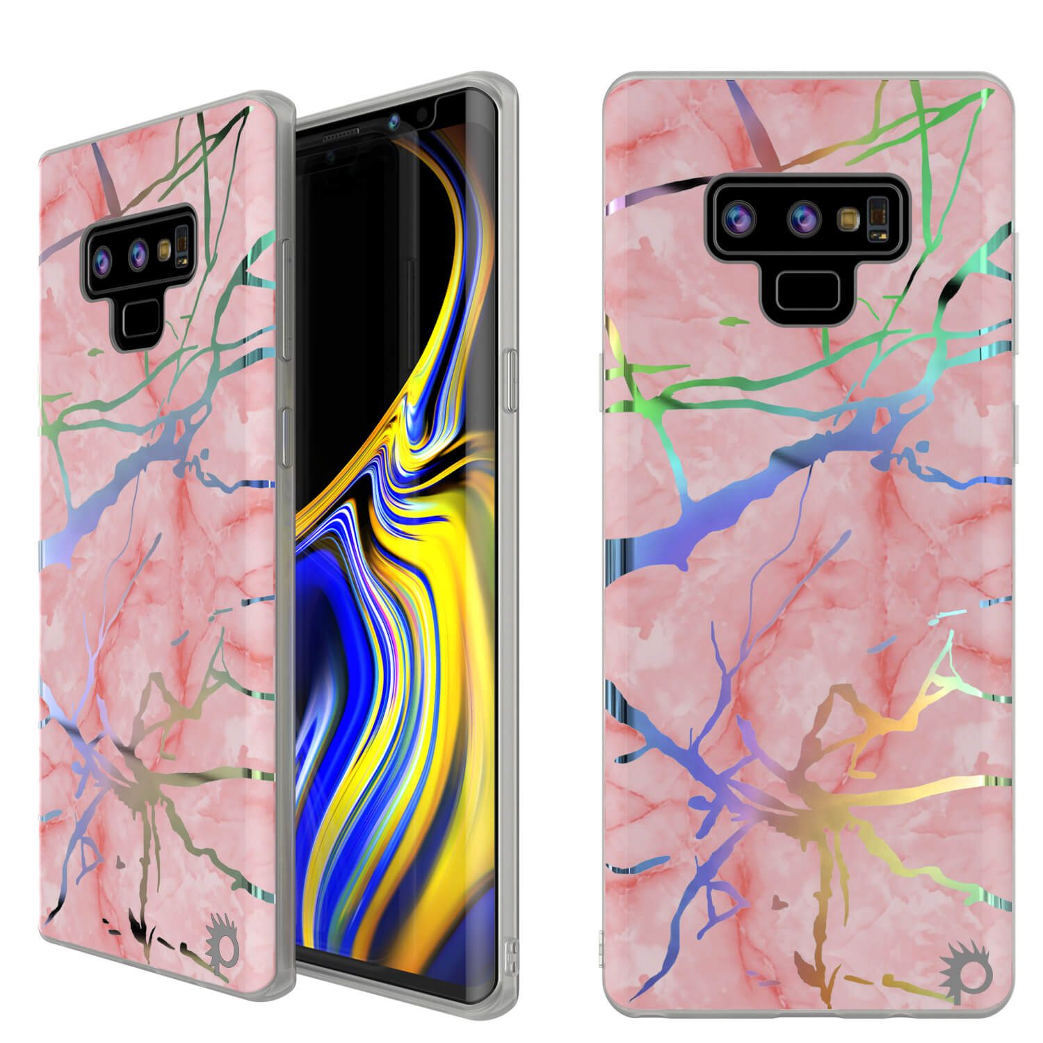 Galaxy Note 9 Full Body W/ Screen Protector Marble Case (Rose Mirage)