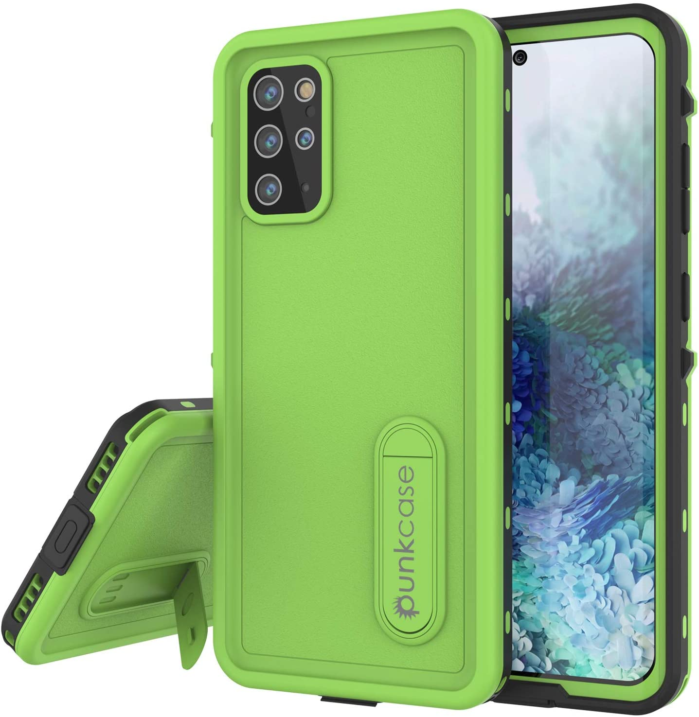 Galaxy S20+ Plus Waterproof Case, Punkcase [KickStud Series] Armor Cover [Light Green]