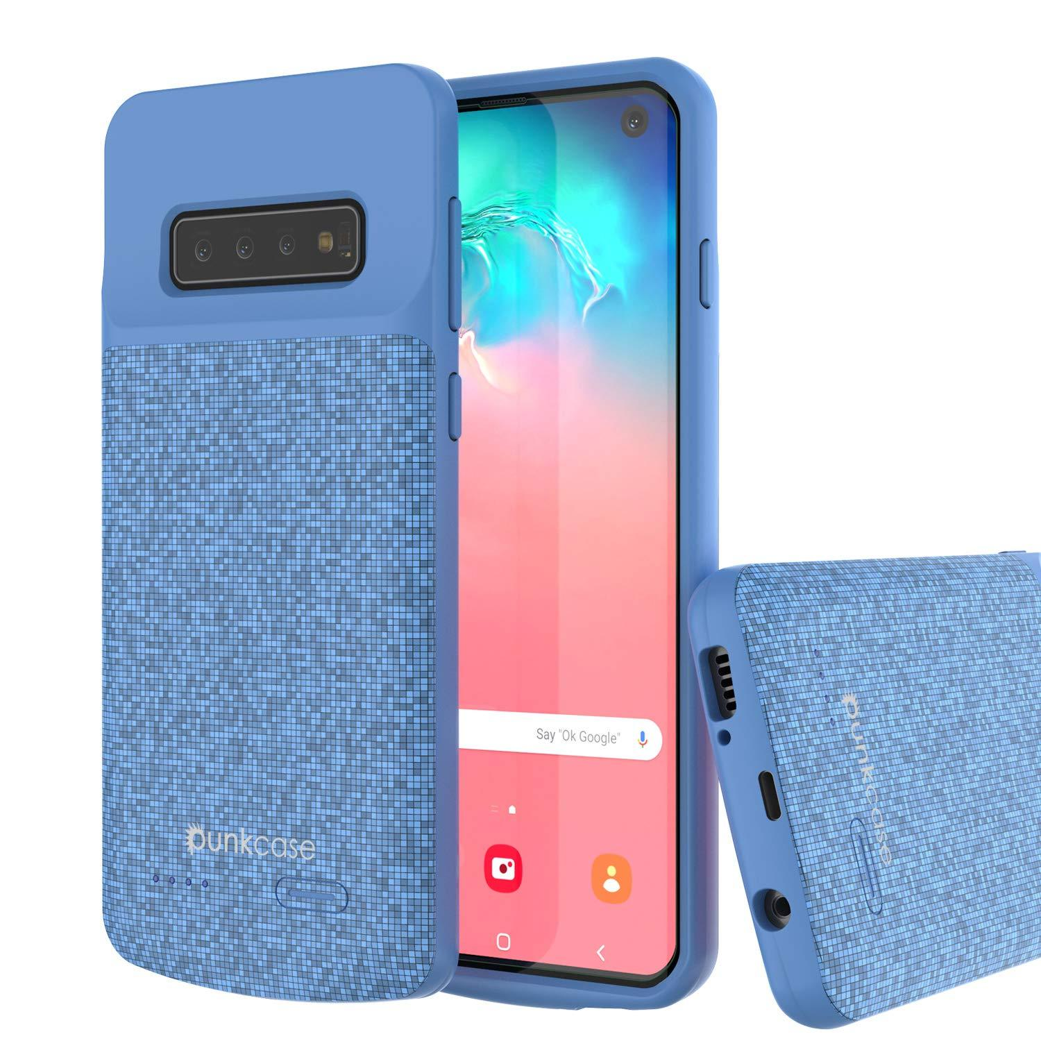 PunkJuice S10 Battery Case Blue - Fast Charging Power Juice Bank with 4700mAh