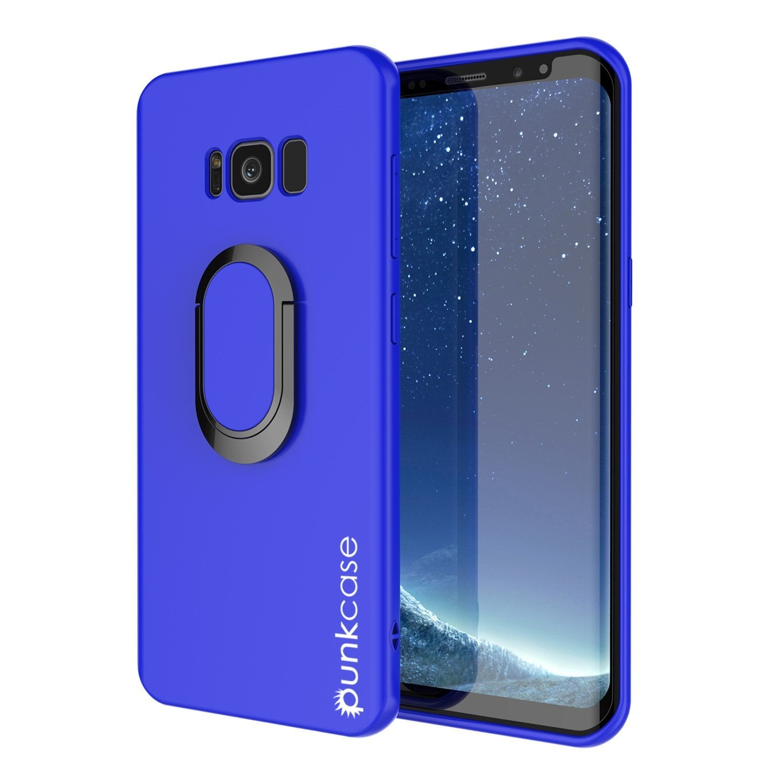 Galaxy S8 PLUS, Punkcase Magnetix Protective TPU Cover W/ Kickstand, Screen Protector [Blue]