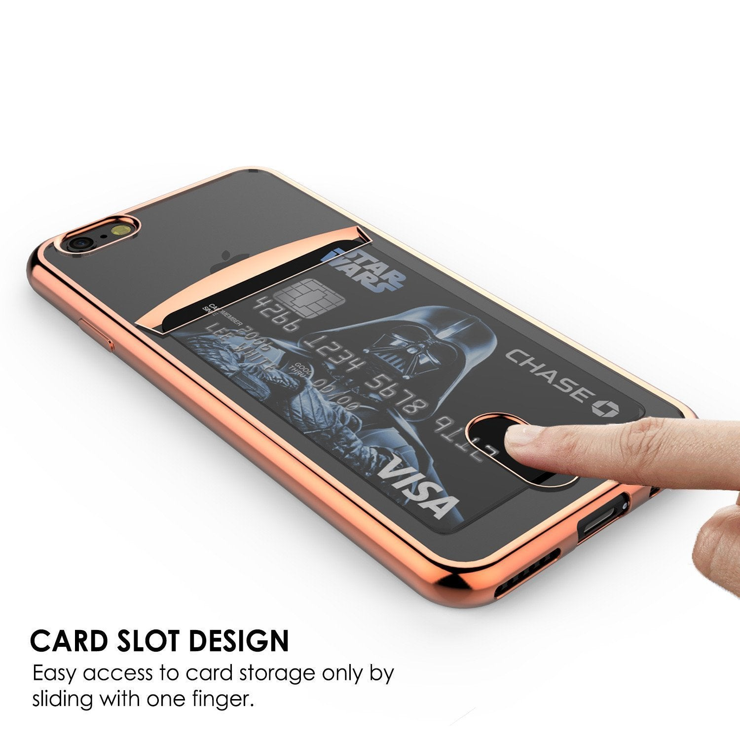 iPhone 8 Case, PUNKCASE® LUCID Rose Gold Series | Card Slot | SHIELD Screen Protector | Ultra fit