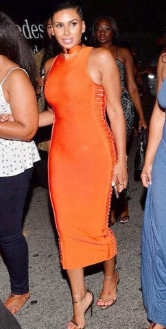 Orange Bandage Dress | On Sale | Baddies Run Town UK
