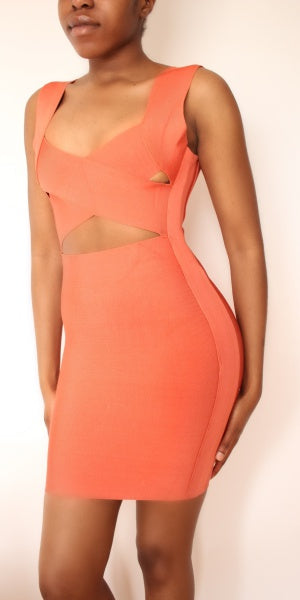 Cross-Over Bandage Dress