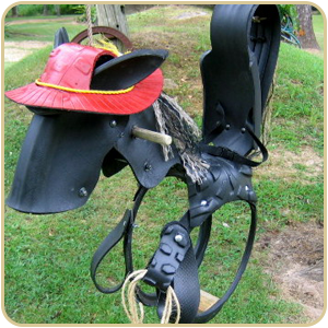 Horse Swing with red Pony Hat