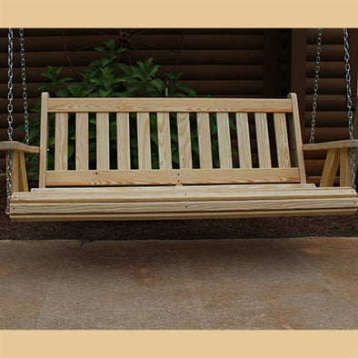 Mission Style Amish Porch Swing front view