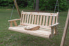 Mission Porch Swing - Knotty Pine with Portable Cup Holder