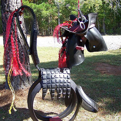Pirate Pony Swing with pirate hat and earring