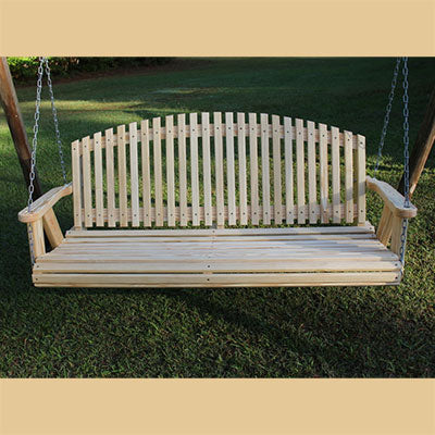 Arch Back Amish Porch Swing