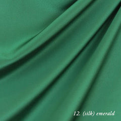 emerald silk crepe de chine