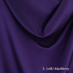 blackberry silk crepe de chine
