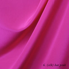 hot pink silk crepe de chine