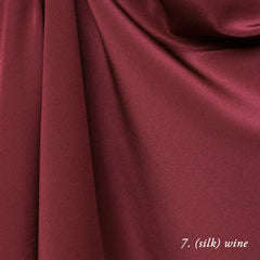 wine silk crepe de chine